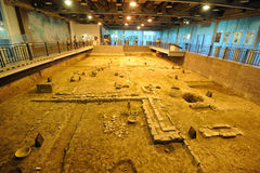 Archeology site of Tang Dynasty in Chengdu Stock Photography