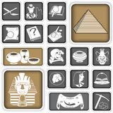Archeology squared icons. A collection of different archeology squared icons Royalty Free Stock Image