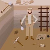 Archeology vector illustrations. Stock Image