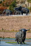 Archeopark σε khanty-Mansiysk Στοκ φωτογραφίες με δικαίωμα ελεύθερης χρήσης