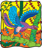 archeopterio恐龙 库存图片