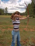 Archer. A female archer Royalty Free Stock Image