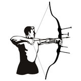 The Archer. Vector art on the sport of archery vector illustration