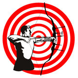 The archer. Vector art on the sport of archery stock illustration