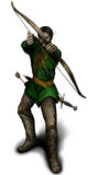 Archer. Illustration Archer. Genius tablet. Photoshop stock illustration