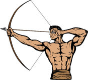 Archer. In Comic book style, can be used for anything Stock Image