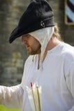 archer Affichage médiéval Warkworth, le Northumberland l'angleterre LE R-U photos stock
