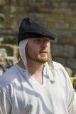 archer Affichage médiéval Warkworth, le Northumberland l'angleterre LE R-U photographie stock