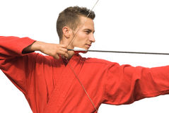 Archer aiming royalty free stock image
