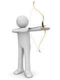 Archer aiming Stock Photos
