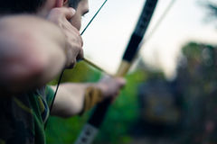 Archer aiming Stock Photos
