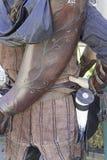 Archer avec des armes à feu image libre de droits