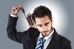 Archer businessman Stock Photo