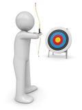 Archer che mira obiettivo Illustrazione di Stock
