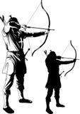 Archer ciągnie sznurek ilustracji