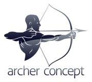 Archer Concept Fotos de archivo libres de regalías
