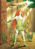 Archer della femmina dell'elfo Fotografie Stock Libere da Diritti