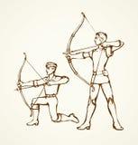 archer Desenho do vetor ilustração do vetor