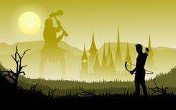 Archer e gigante illustrazione vettoriale