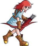 Archer flicka royaltyfri illustrationer