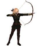 Archer fêmea louro Standing Imagens de Stock