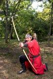 Archer handtag på raden royaltyfria bilder