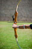 Archer holds a bow Stock Image