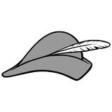 Archer kapeluszu ilustracja Zdjęcia Royalty Free