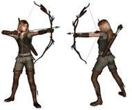 Archer kobiety 2 pozy Fotografia Stock