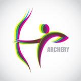 Archer label Stock Image