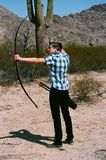 Archer Long Bow Arkivbild