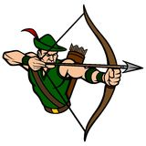 Archer maskotka royalty ilustracja