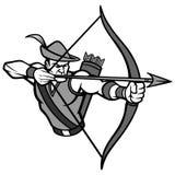 Archer maskotki ilustracja ilustracji