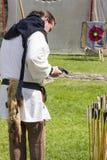 Archer. Medieval Display. Warkworth, Northumberland. England. UK. Stock Photo
