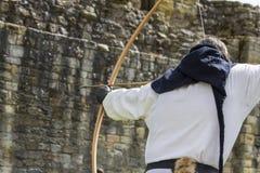 Archer. Medieval Display. Warkworth, Northumberland. England. UK. Royalty Free Stock Image