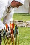 Archer. Medieval Display. Warkworth, Northumberland. England. UK. Royalty Free Stock Images
