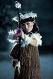 Archer primitivo hermoso Imagen de archivo libre de regalías