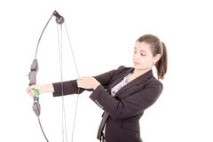 Archer professionnel déterminé de femme de bureau Photo stock