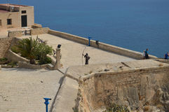 An Archer Protecting The Tourists In Alicante Castle Stock Image
