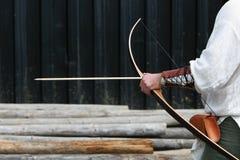 Archer que consigue listo Imagen de archivo libre de regalías