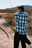 Archer Recurve Bow Royaltyfri Foto