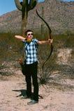Archer Recurve Bow Arkivbild