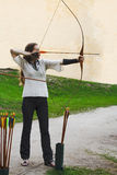 Archer side view Royalty Free Stock Images
