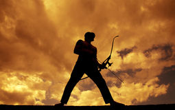 Archer Silhouette Royalty Free Stock Photos
