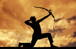 Archer Silhouette stock photo