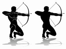 Free Archer Silhouette, Vector Drawing Stock Image - 109452161