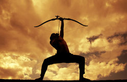 Archer Silhouettes Stock Photography
