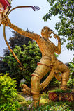 Archer statue, Vientiane, Laos Stock Image