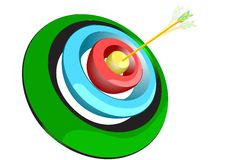 Archer target Royalty Free Stock Images