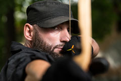Archer Training With The Bow Stock Image